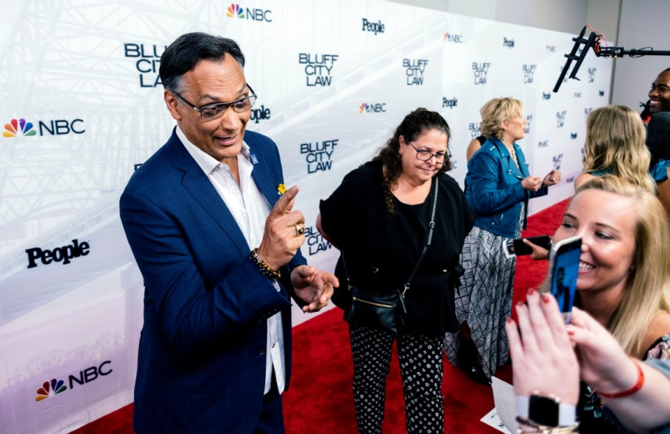 "<strong>Jimmy Smits, at the red-carpet event for ""Bluff City Law"" at the Halloran Centre Sept. 11, said&nbsp;&ldquo;We want to do something for (Memphis).&rdquo;&nbsp;</strong>(Houston Cofield/Special to The Daily Memphian)"