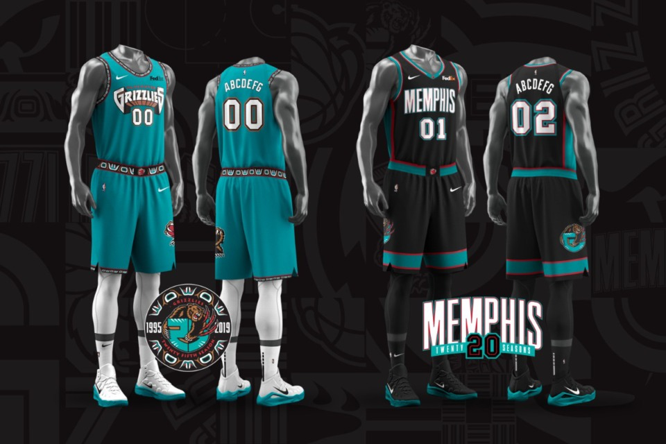 <strong>The Grizzlies will wear jerseys from the Vancouver era during 10 throwback games this season.</strong>&nbsp;(Submitted)