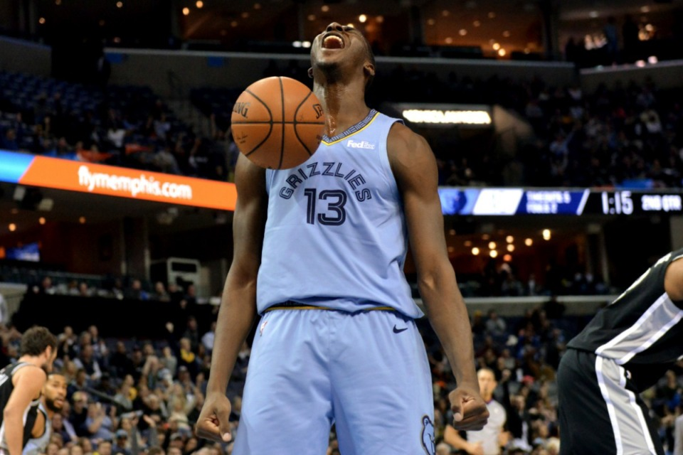 <strong>Will Memphis Grizzlies forward Jaren Jackson Jr., seen here in January, fill the leadership vacuum for the team? That's just one of a lot of questions whose answers will start coming Monday, Sept. 30, on Media Day.</strong> (Brandon Dill/AP)
