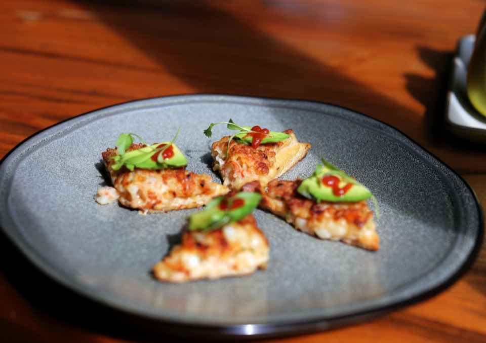 <strong>Chef Wally Joe makes this shrimp toast at his restaurant Acre in East Memphis.</strong> (Patrick Lantrip/Daily Memphian)