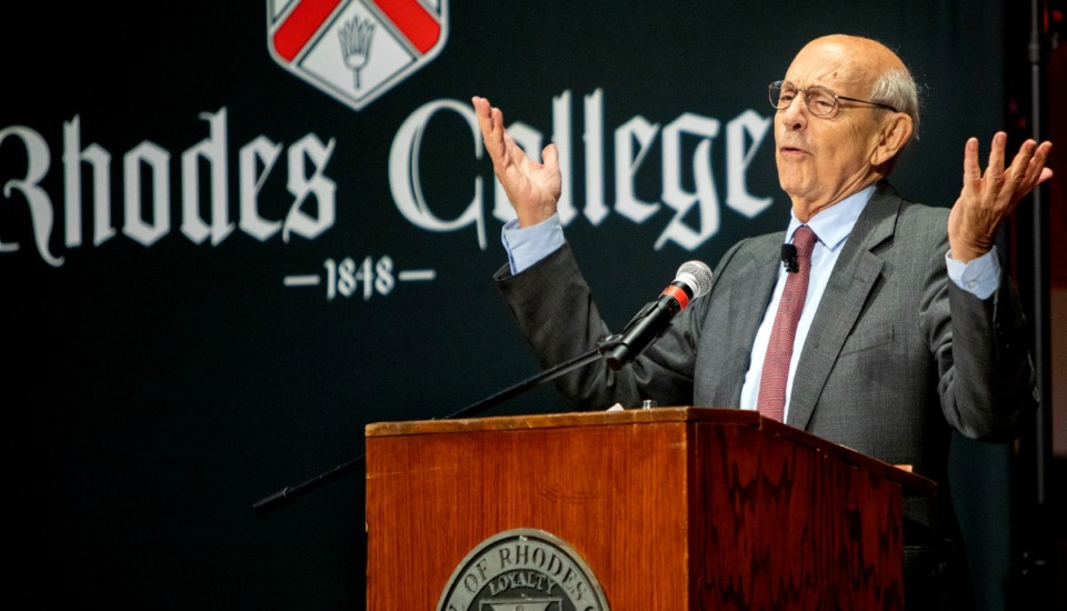 <strong>Supreme Court Justice Stephen Breyer delivered the Constitution Day lecture Thursday, Oct. 3, at McNeill Concert Hall at Rhodes College.&nbsp;Nearly 550 people were in attendance; the line to the auditorium snaked down the sidewalk an hour before the speech began.&nbsp;</strong>(Mike Kerr/Special to the Daily Memphian)