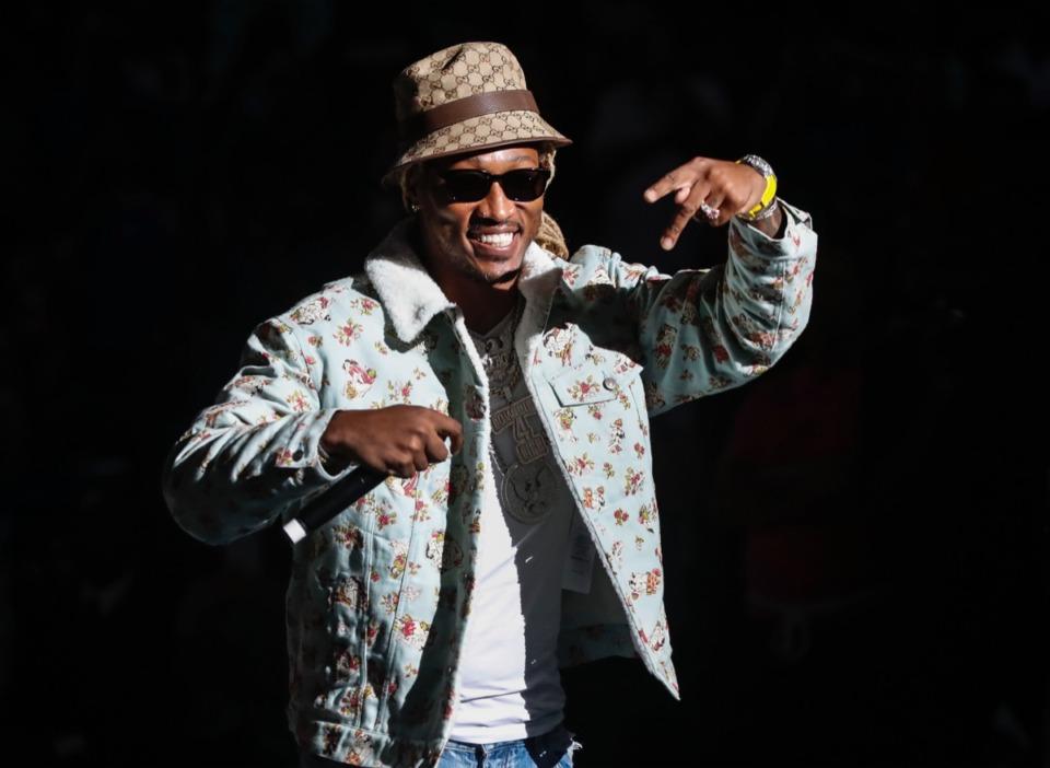 <strong>Rapper Future performs during Memphis Madness at FedExForum.</strong> (Mark Weber/Daily Memphian)