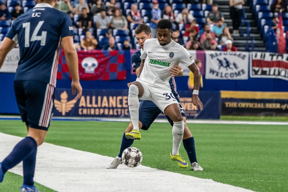 <strong>Marcus Epps and Memphis 901 FC lost fell behind early and lost to Indy Eleven, 3-0, Saturday at Lucas Oil Stadium.</strong> (Courtesy of Memphis 901 FC)