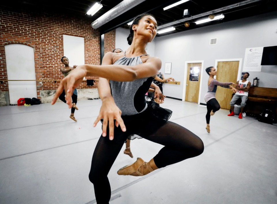 <strong>Kimberley Ho-Tsai rehearses Tuesday at the Collage Dance Collective on Board Avenue.&nbsp;The dance collective that houses the largest number of black and students of color training in classical ballet will celebrate its 10th season with a&nbsp;ballet&nbsp; Oct. 25-27 at Germantown Performing Arts Center.</strong>&nbsp;(Mark Weber/Daily Memphian)<b></b>