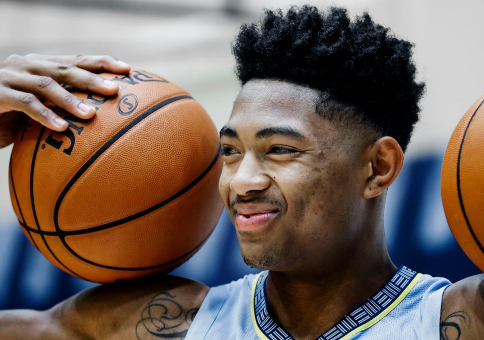 """<strong>Bruno Caboclo is trying to earn a rotation roll with the Grizzlies as a """"big"""" in coach Taylor Jenkins' system. </strong>(Mark Weber/Daily Memphian)"""