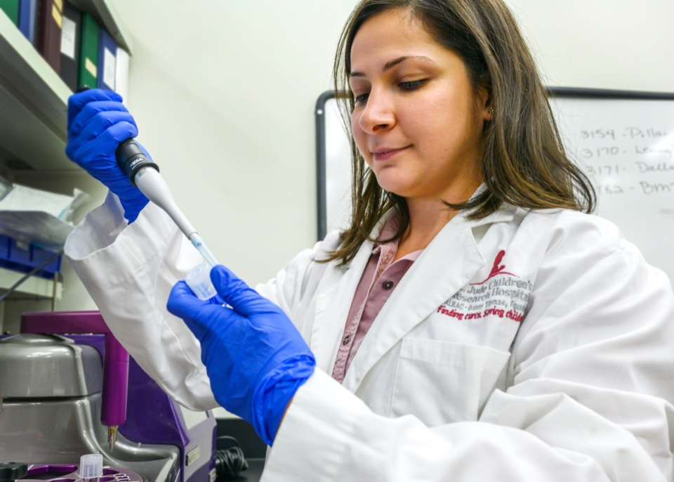 <strong>Dr. Dalia Haydar is doing research at St. Jude on repurposing the antibiotic Azrithromycin to fight inflammatory diseases like cystic fibrosis.</strong>&nbsp;(Greg Campbell/Special to The Daily Memphian)