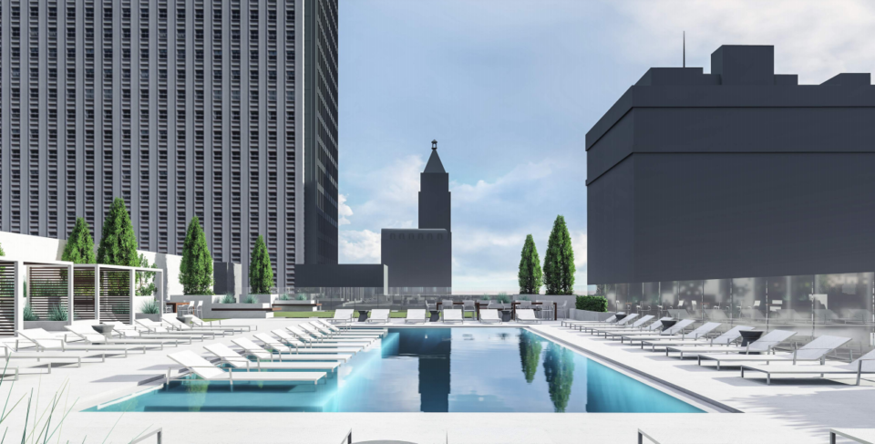 <strong>A rooftop pool will offer a view of the Memphis skyline.</strong> (Submitted image)