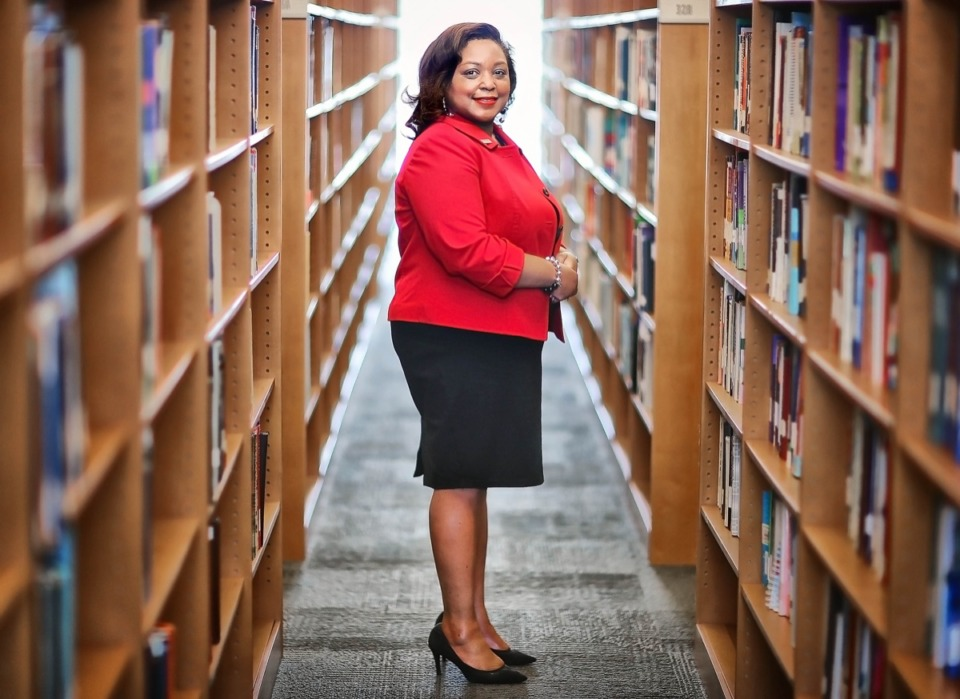 <strong>In her four-year term as Southwest Community College President, Tracy Hall has helped the school turn some impressive corners, including halting a 7-year decline in enrollment, increasing graduation rates and narrowing the achievement gap between white and students of color.</strong> (Jim Weber/Daily Memphian)