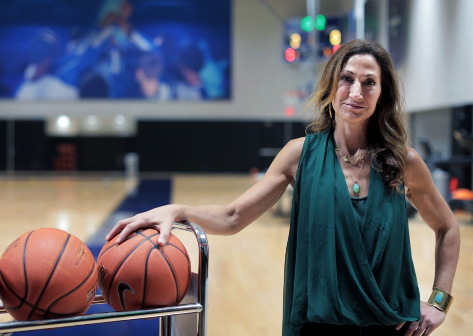 <strong>Sports agent Rebecca Adelman of MPower in the Laurie Walton Practice Facility Oct. 7, 2019.</strong> (Patrick Lantrip/Daily Memphian)