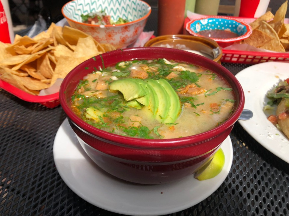 <strong>Caldo tlalpeno, or chicken soup, is $7.50 for a large bowl at Maciel's.</strong> (Jennifer Biggs/Daily Memphian)