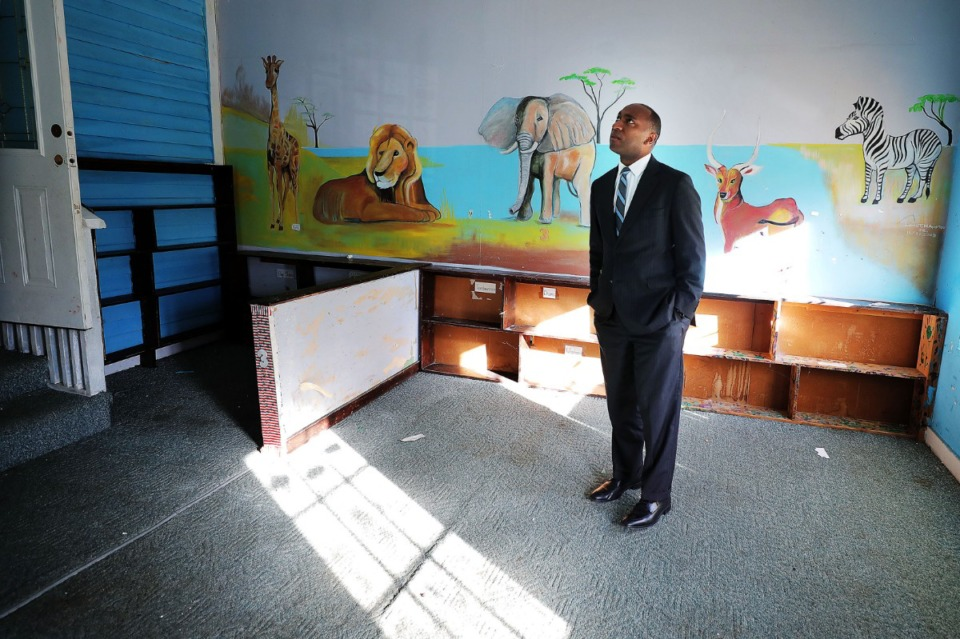 <strong>&ldquo;One of the major issues along the path to rehabilitation is obviously, getting a job, but another big challenge is finding stable housing,&rdquo; said Shelby County Mayor Lee Harris, touring a former daycare that will be renovated to house former inmates.</strong>&nbsp;(Patrick Lantrip/Daily Memphian)