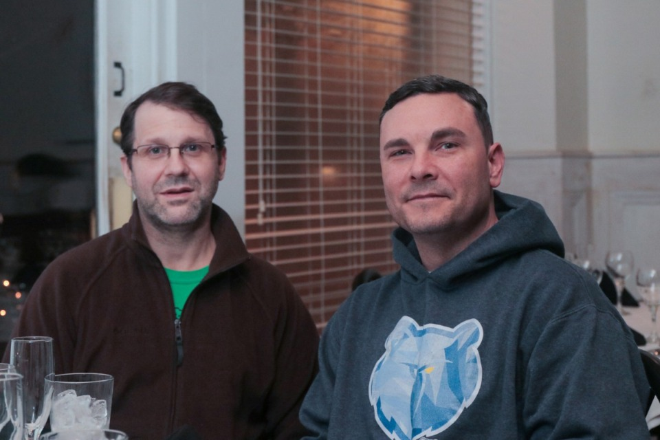 <strong>Cullen Kent (left) and Tony Westmoreland co-own Zinnie's&nbsp;under their Tandem Restaurant Partners group. The pair, along with Westmoreland's wife, Stephanie, plan to reopen the Midtown restaurant next month.</strong> (Jason R. Terrell/Daily Memphian file)