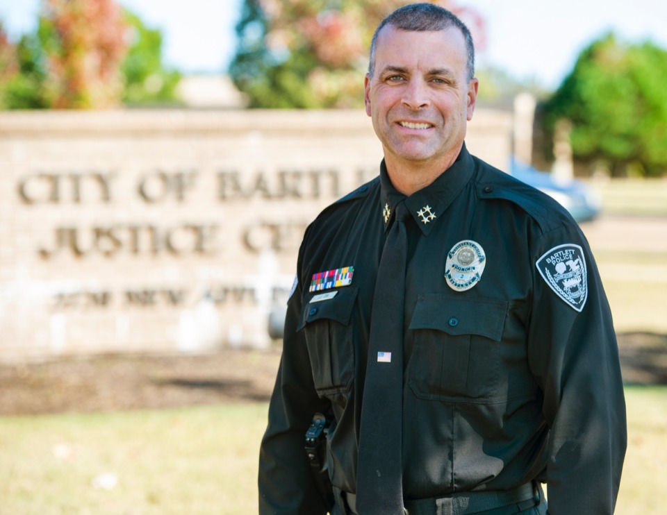 <strong>Asst. Bartlett Police Chief Jeff Cox will take the top job Jan. 4, 2020.</strong> (Greg Campbell/Special to The Daily Memphian)