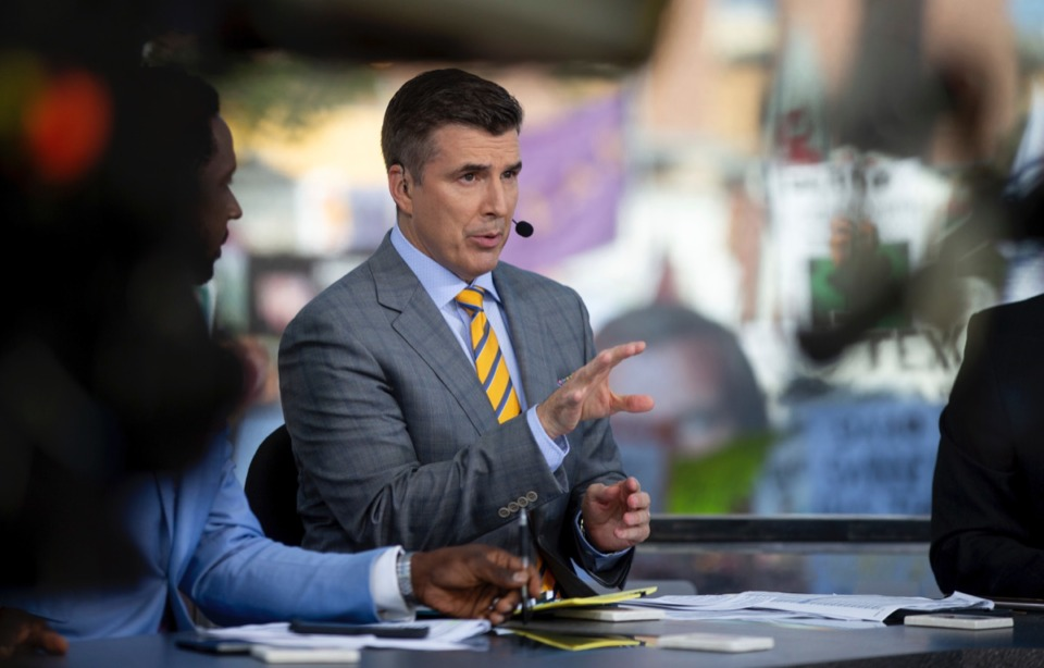 <strong>Rece Davis is the host of GameDay, and a fan of Rendezvous ribs.</strong> (Sam Craft/AP)