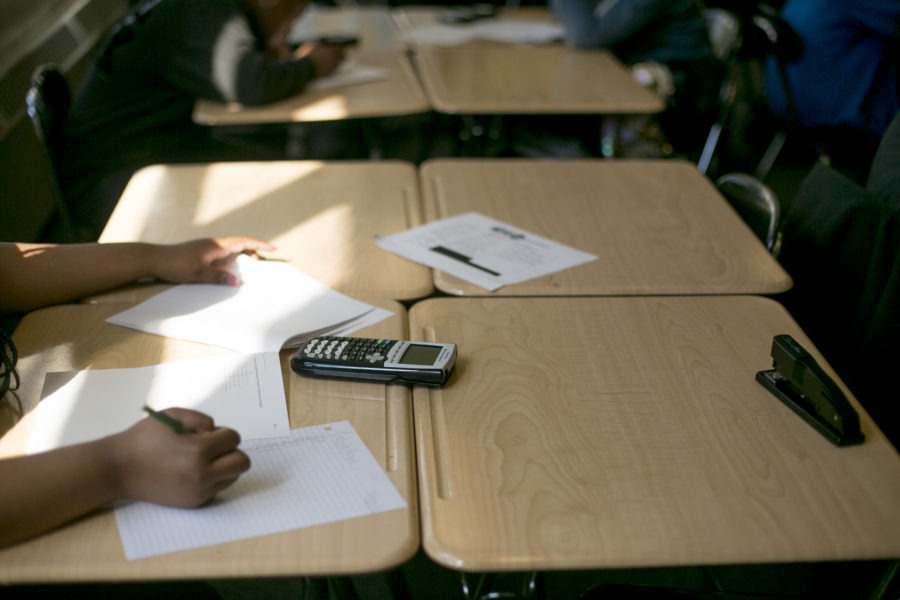 <strong>The most significant jump in Shelby County students' performance on the National Assessment of Educational Progress was in eighth-grade math where the average score increased by about eight points.(</strong>Anthony Lanzilote/Chalkbeat file)