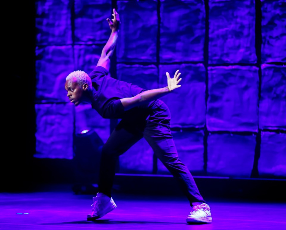 <strong>Lil Buck dances during the 2019 National Civil Rights Museum Freedom Awards at the Orpheum Oct. 30.</strong> (Mark Weber/Daily Memphian)