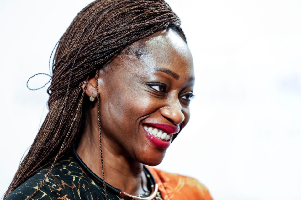 <strong>Honoree Hafsat Abiola walks the red carpet during the 2019 National Civil Rights Museum Freedom Awards at the Orpheum Oct. 30.</strong> (Mark Weber/Daily Memphian)