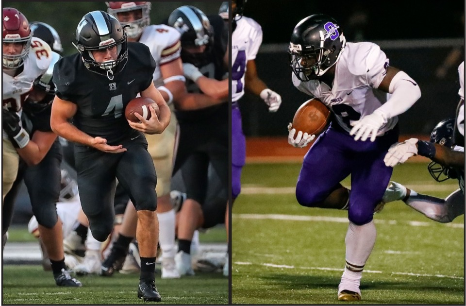 <strong>Statistically speaking, the two best running backs in Memphis are Houston's Lincoln Pare (left) and Southwind's Romal Webb. They will face each other this week.</strong> (File/Daily Memphian)