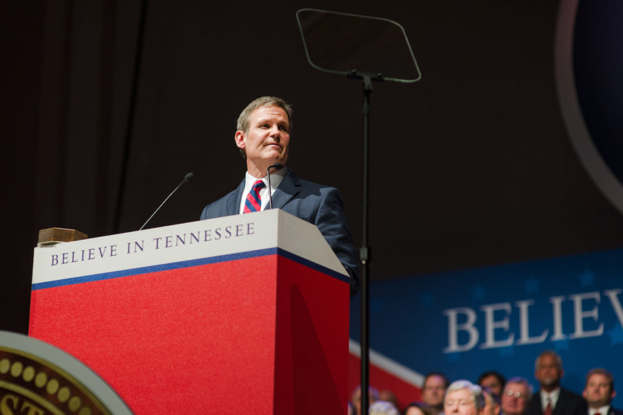 """<div class=""""img-wrapper""""><div class=""""img-credit""""><div class=""""credit""""><strong>Gov. Bill Lee was inaugurated in January and made passage of his education savings account proposal his signature legislative initiative for education.</strong> (<span>Courtesy TN.gov)</span></div></div></div>"""