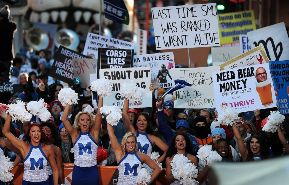 "<strong>Downtown Memphis was teeming with college football fans during the broadcast of ESPN's ""College GameDay"" live from Beale Street on Nov. 2, 2019.</strong> (Jim Weber/Daily Memphian)"