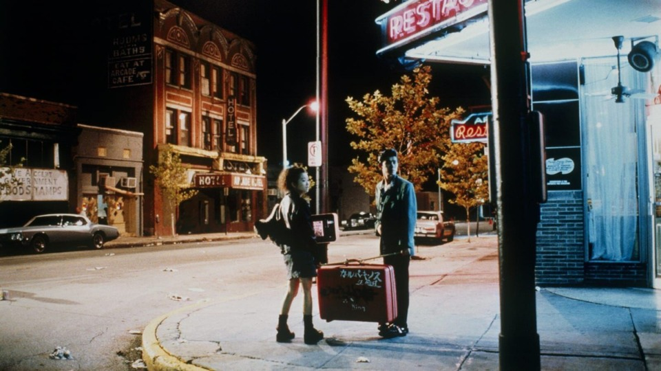 "<strong>Yuki Kudo and Masatoshi Nagase stand in front of the Arcade Restaurant during their first visit to Memphis in filmmaker Jim Jarmusch's 1989 Memphis classic ""Mystery Train.""<span>&nbsp;</span></strong><span>(Courtesy Indie Memphis)</span>"