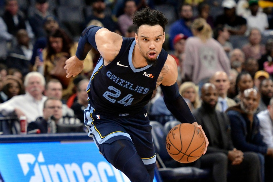 <strong>Grizzlies guard Dillon Brooks (24) drives in the second half of an NBA basketball game against the Houston Rockets Nov. 4.</strong> (Brandon Dill/AP)