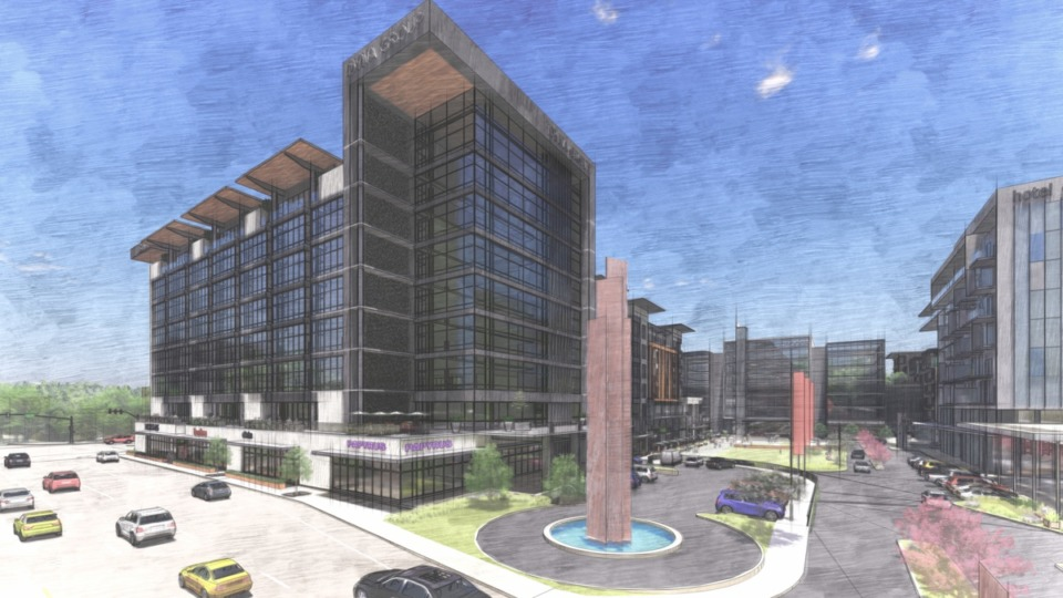 <strong>An artist's rendering shows the plan for Carrefour at Kirby Woods.</strong> (File/Daily Memphian)
