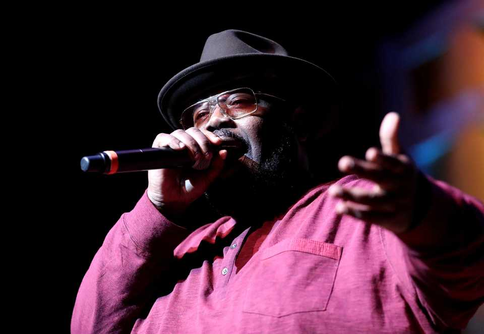 """<strong>Rapper 8Ball took the stage and perfomed a few hits with his partner MJG at the Memphis Music Hall of Fame induction ceremony Thursday, Nov. 1. The duo started as """"two little kids from the hood,"""" 8Ball said, adding, """"We&rsquo;re so blessed to be in the company we&rsquo;re in tonight.""""</strong> (Houston Cofield/Daily Memphian)"""