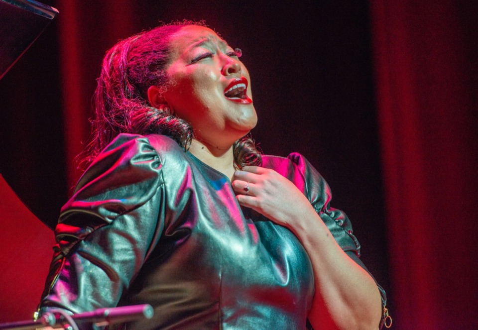 <strong>Opera singer Michelle Bradley performs in honor of Memphis Music Hall of Fame inductee Florence Cole Talbert McCleave at the Cannon Center Nov 8.</strong> (Greg Campbell/ Special to The Daily Memphian)