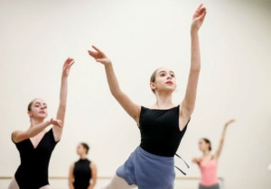 """<strong>New Ballet Ensemble dancer Lily Reynolds rehearses for """"Nut Remix"""", a retelling of the """"Nutcracker"""" for a 21st century audience.</strong> (Mark Weber/Daily Memphian)"""