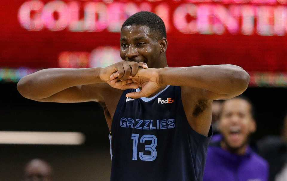 <span><strong>Memphis Grizzlies forward Jaren Jackson Jr. reacts as he leaves the game after being called for his sixth foul during the second half of an NBA basketball game against the Sacramento Kings, Wednesday, Oct. 24, 2018, in Sacramento, Calif. The Kings won 97-92.</strong> (AP Photo/Rich Pedroncelli)</span>