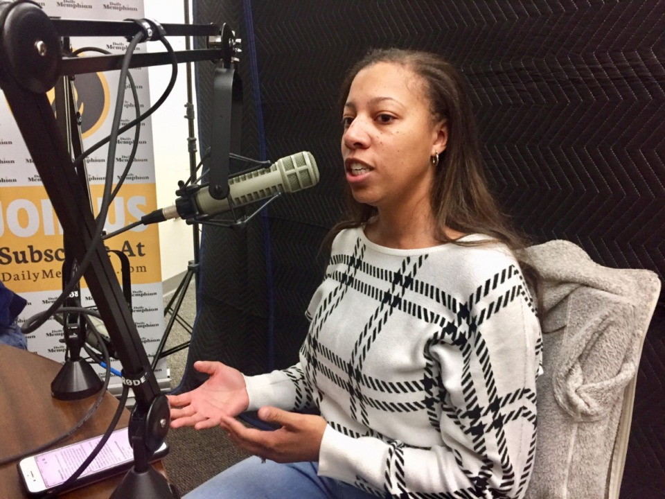 <strong>Veronica Johnson discusses the embedded journalism program on the podcast.</strong>