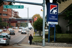 <strong>The First Tennessee Bank on Union Avenue is among those moving over to the First Horizon brand.</strong> (Mark Weber/Daily Memphian)
