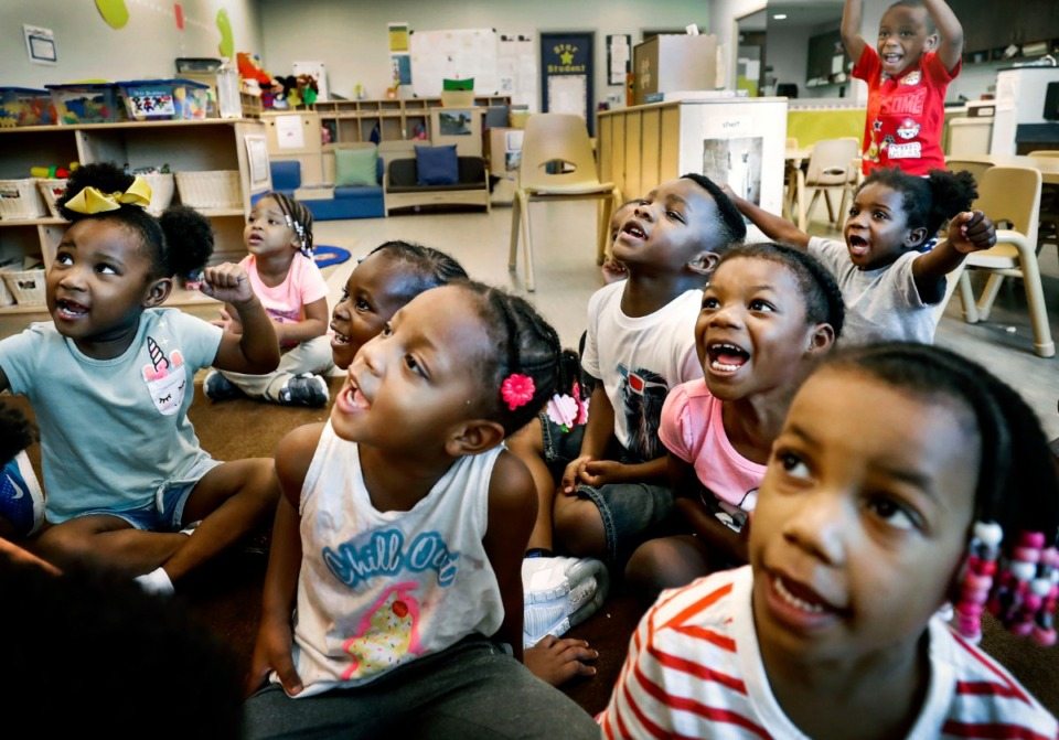 <strong>Porter-Leath Early Childhood Academy Head Start students say their ABCs during class Aug. 30, 2019.</strong> (Mark Weber/Daily Memphian file)