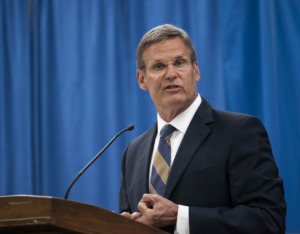 """<div class=""""wp-caption-text""""><strong>Gov. Bill Lee made passage of education savings accounts, a newer type of voucher, the signature legislative goal of his first year in office. </strong>(Courtesy&nbsp;TN.gov)</div>"""