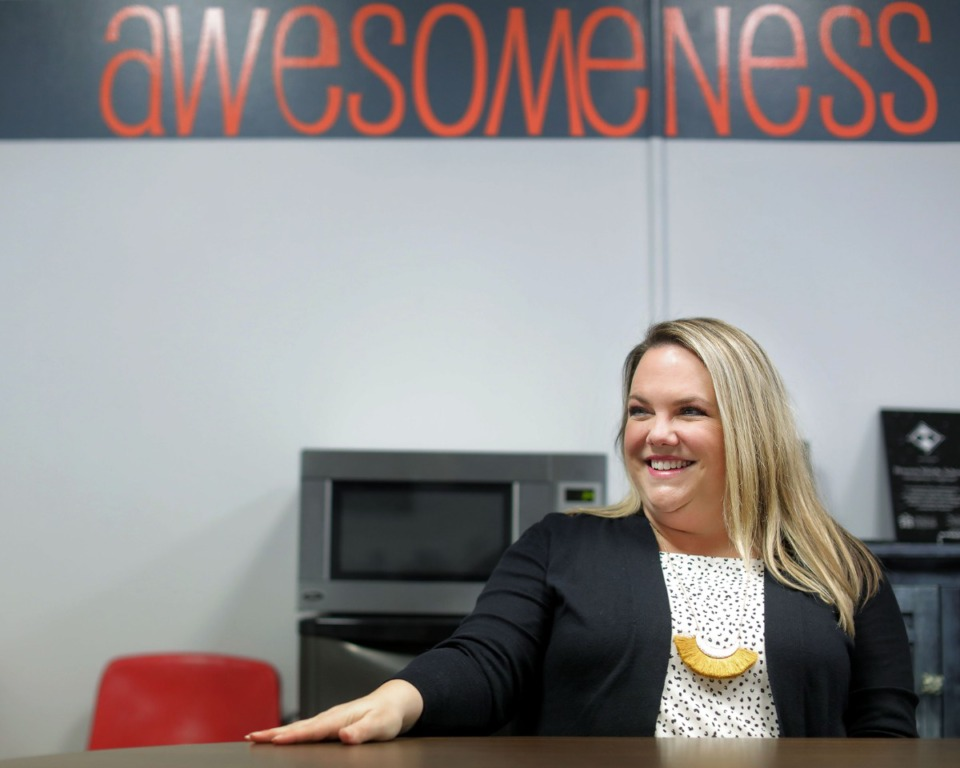 <strong>Jessica Woody, photographed at her current job at Houston Middle School on Nov. 20, has been named the new principal at Dogwood Elementary.</strong> (Patrick Lantrip/Daily Memphian)