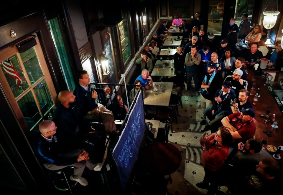 <strong>901 FC hosted their first fan forum before the start of the 2020 season Nov. 21 at The Brass Door.</strong> (Mark Weber/Daily Memphian)