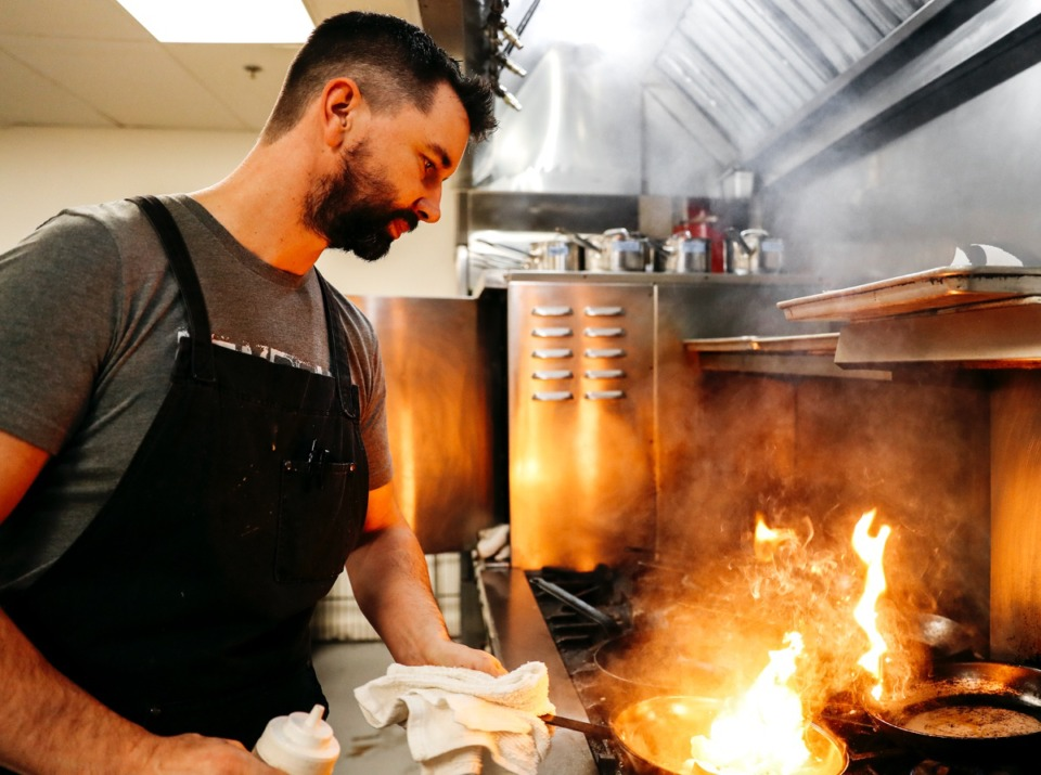 <strong>Jimmy Gentry, seen here in Janurary as the chef and owner of P.O. Press Public House and Provisions, is returning to Interim.</strong> (Houston Cofield/Daily Memphian)