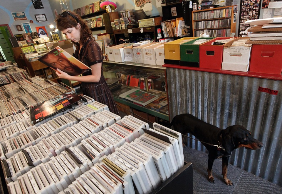<strong>A shopper checks out vinyl at Goner Records, 2152 Young Ave.&nbsp;</strong>(Lance Murphey/Daily Memphian file)