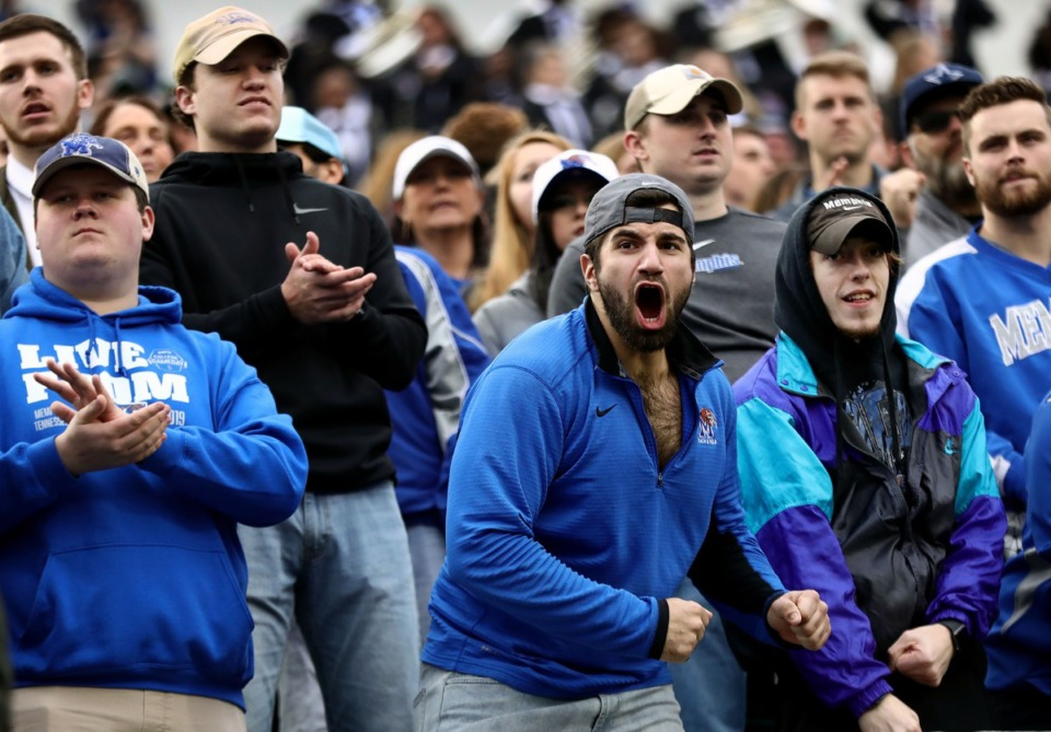 <strong>University of Memphis had a lot to cheer about as their Tigers took on the University of Cincinnati Nov. 29.</strong> (Patrick Lantrip/Daily Memphian)