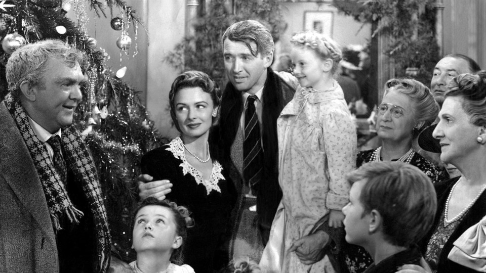 """<strong>James Stewart (center) stars in the perennial holiday favorite, Frank Capra's """"It's a Wonderful Life.""""</strong> (Courtesy the Orpheum)"""