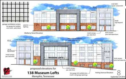 "<strong>Floor plans for the 68-unit Museum Lofts project range from 580-square-foot ""micro units"" to 830-square-foot studio lofts to 1,268-square-foot two-bedroom units.</strong> (Patrick Lantrip/Daily Memphian)"