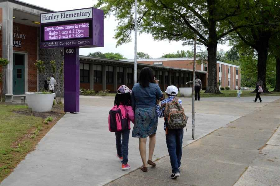 <strong>Aspire's Hanley Elementary is located in Orange Mound, a historic black community in Memphis.</strong> (Micaela Watts/Chalkbeat)