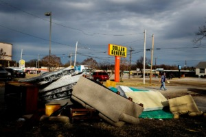 <strong>Trash litters a vacant lot at the corner of Thomas Street and Gilliand Avenue Thursday, Dec. 5, 2019. A U.S. consulting firm is creating a Memphis nonprofit group to fights in the Frayser neighborhood surrounding the Northgate Shopping Center.</strong> (Mark Weber/Daily Memphian)