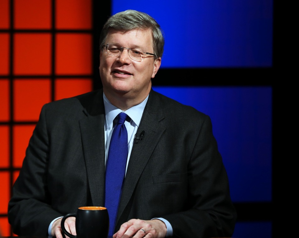 """<strong>Memphis Mayor Jim Strickland, seen here Aug. 29 on WKNO's """"Behind the Headlines,"""" warns of the possibility of layoffs and garbage service cutbacks in 2020.</strong> (Patrick Lantrip/Daily Memphian)"""