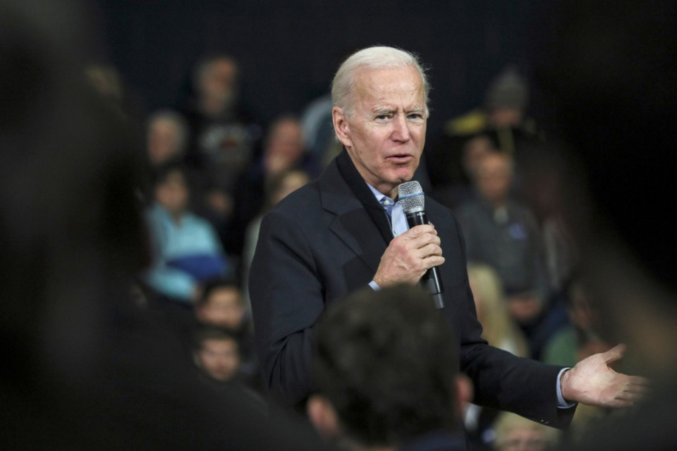 <strong>Democratic presidential candidate and former Vice President Joe Biden speaks at a campaign event in Nashua, N.H. Sunday, Dec. 8, 2019.</strong> (Cheryl Senter/AP)