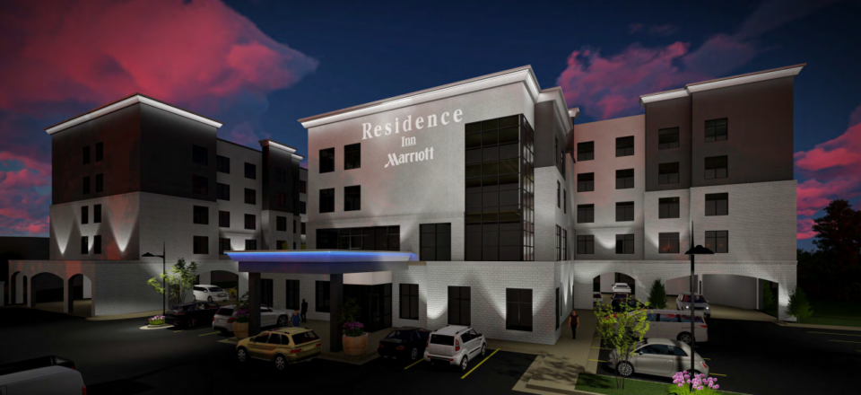 <strong>The 98-room Residence Inn by Marriott would be built at 1747 W. Massey, adjacent to the International Paper office campus in East Memphis.</strong> (Courtesy Renaissance Group)