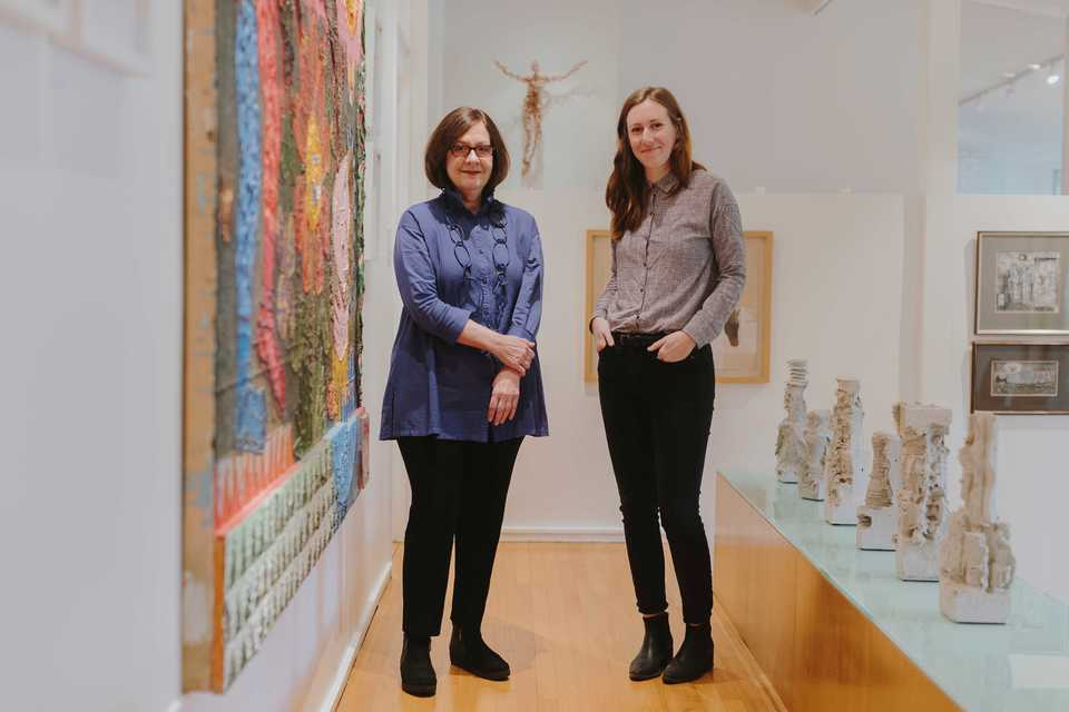 <strong>Nancy Cheairs (left) and Erin Wright, creators of Binder Projects, stand inside Wright's father's home prior to the launch of their first exhibition. The new gallery aims to create a non-intimidating environment where people can curate a taste for art.</strong> (Houston Cofield/Daily Memphian).