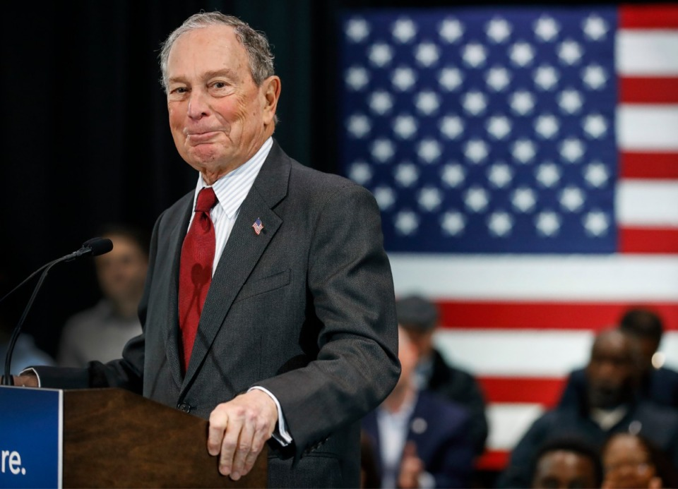 <strong>Democratic presidential contender Michael Bloomberg campaigns during a stop at Benjamin L. Hooks Central Library on Thursday, Dec. 19.</strong> (Mark Weber/Daily Memphian)