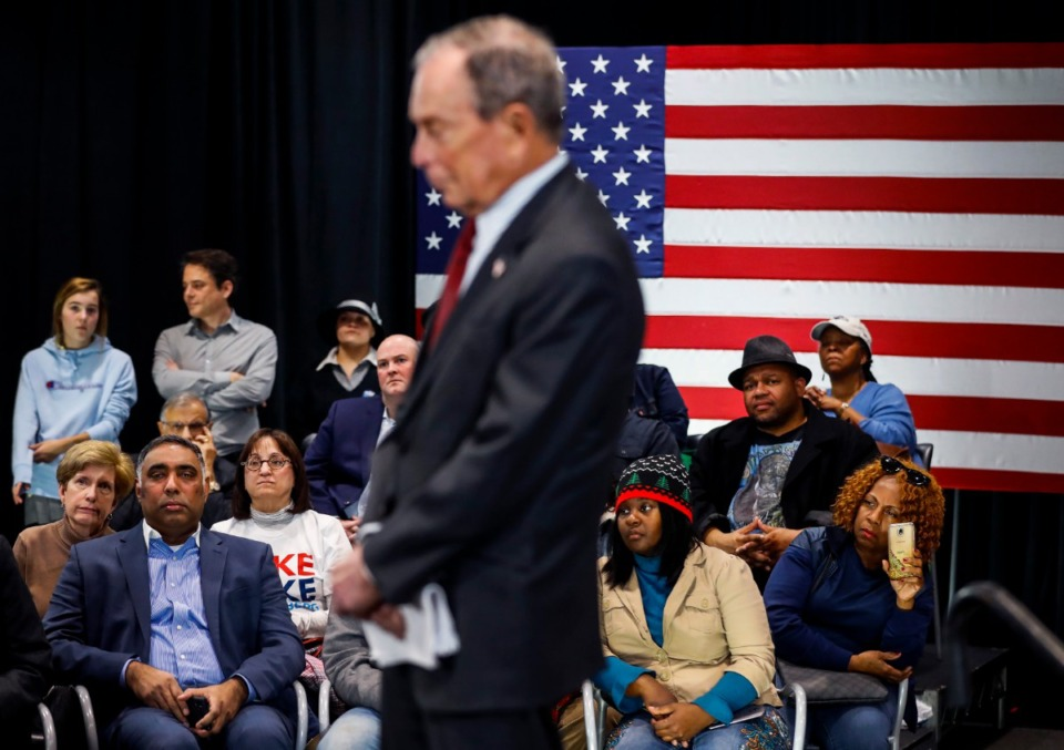 <strong>Supporters attended Democratic presidential contender Michael Bloomberg's campaign stop at Benjamin L. Hooks Central Library on Thursday, Dec. 19.</strong> (Mark Weber/Daily Memphian)